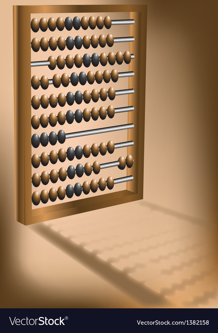 Retro abacus vector | Price: 1 Credit (USD $1)
