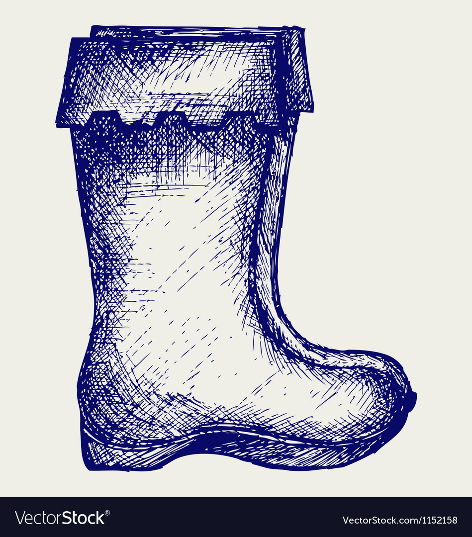 Rubber boots vector | Price: 1 Credit (USD $1)