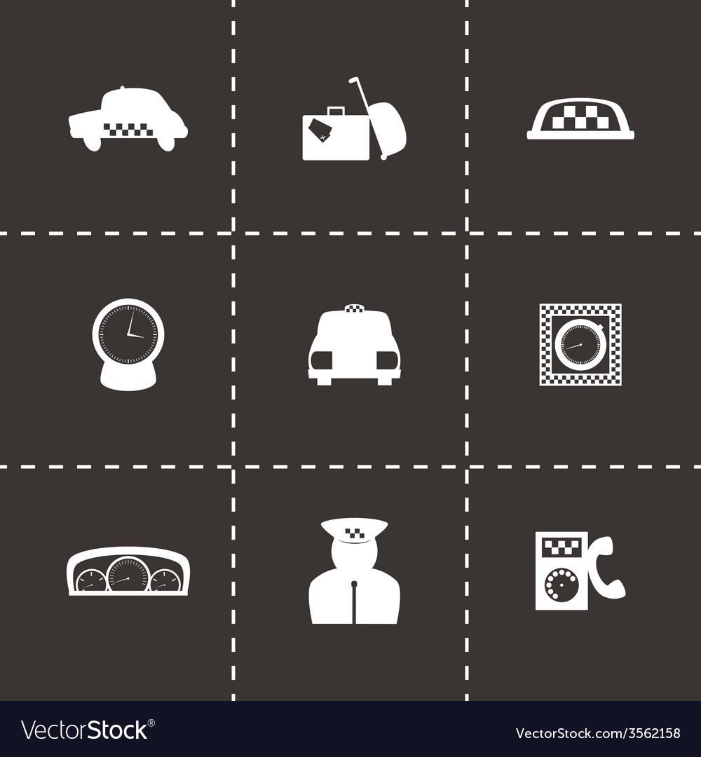 Taxi icon set vector | Price: 1 Credit (USD $1)