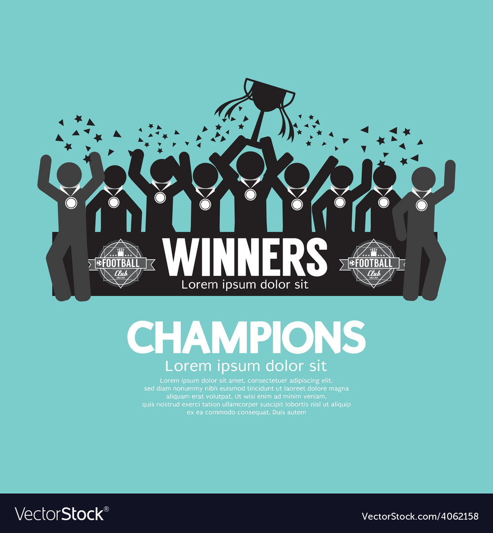 The winner cup soccer or football champions vector | Price: 1 Credit (USD $1)