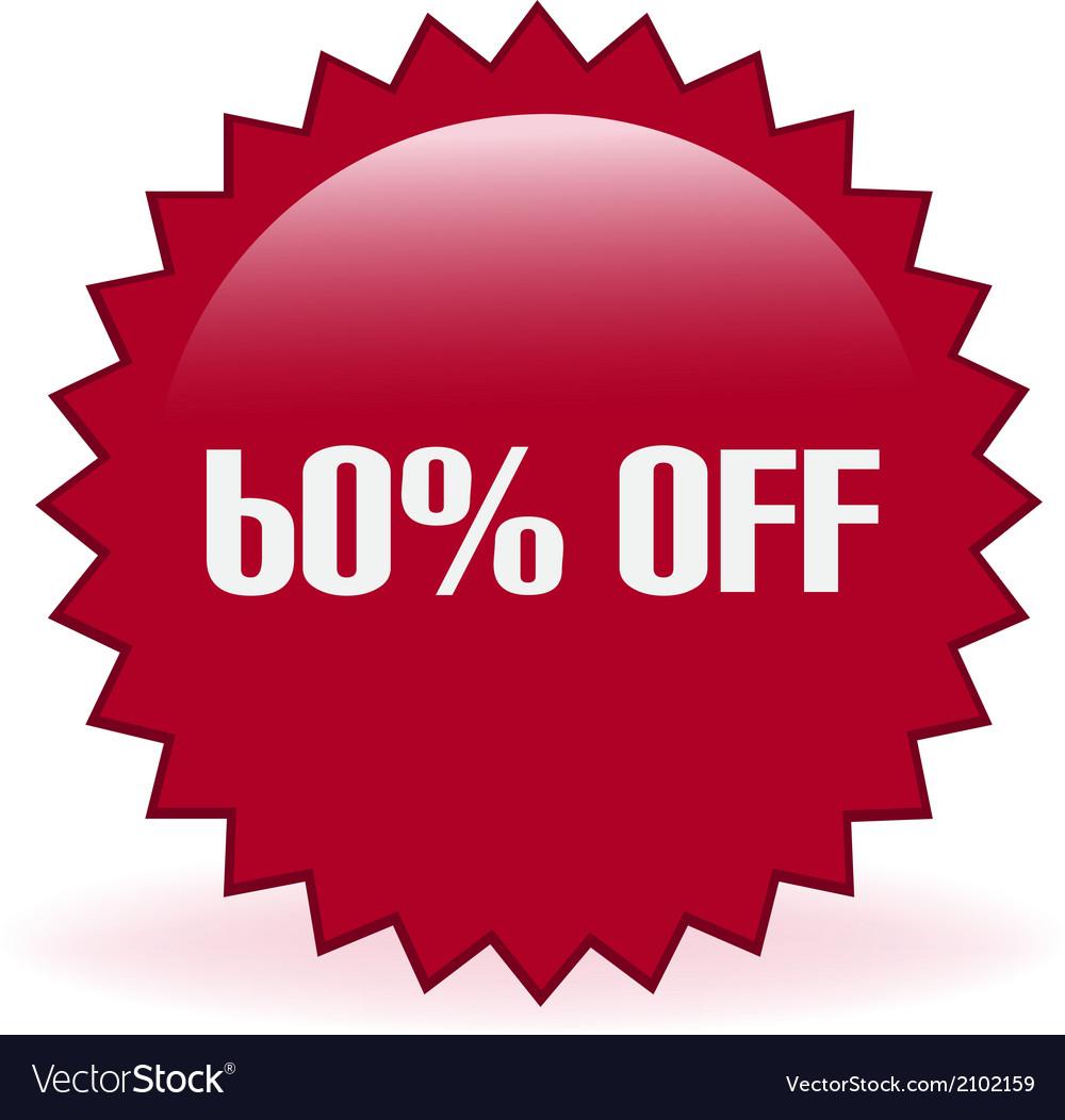60 off sticker vector   Price: 1 Credit (USD $1)