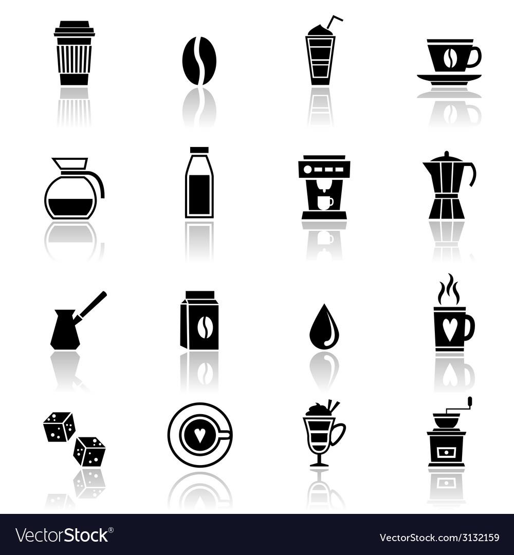 Coffee icons black vector   Price: 1 Credit (USD $1)
