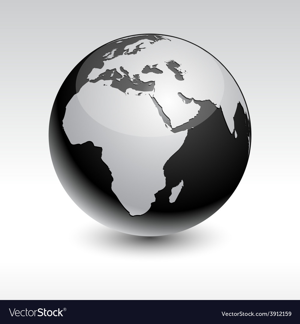 Earth - africa vector | Price: 1 Credit (USD $1)