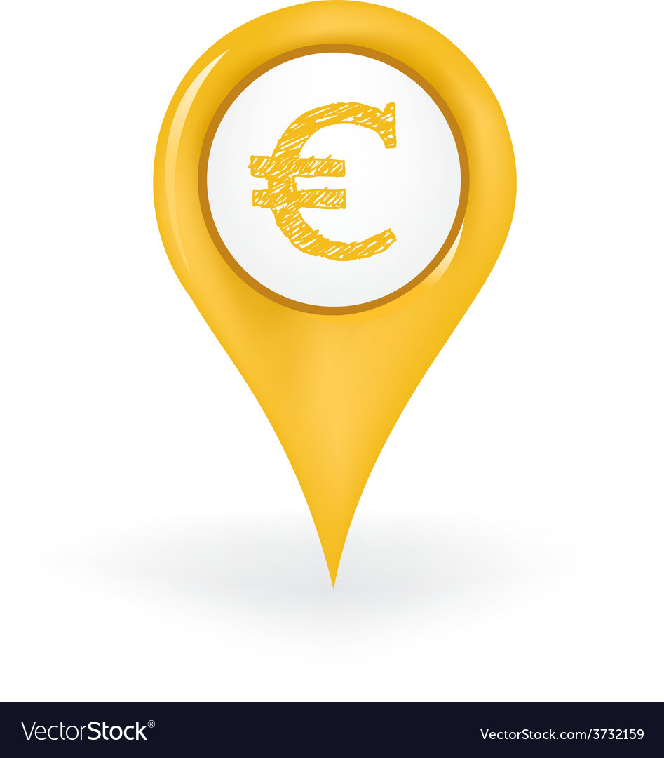 Euro location vector | Price: 1 Credit (USD $1)