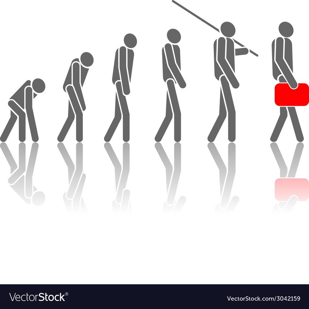 Human evolution vector | Price: 1 Credit (USD $1)