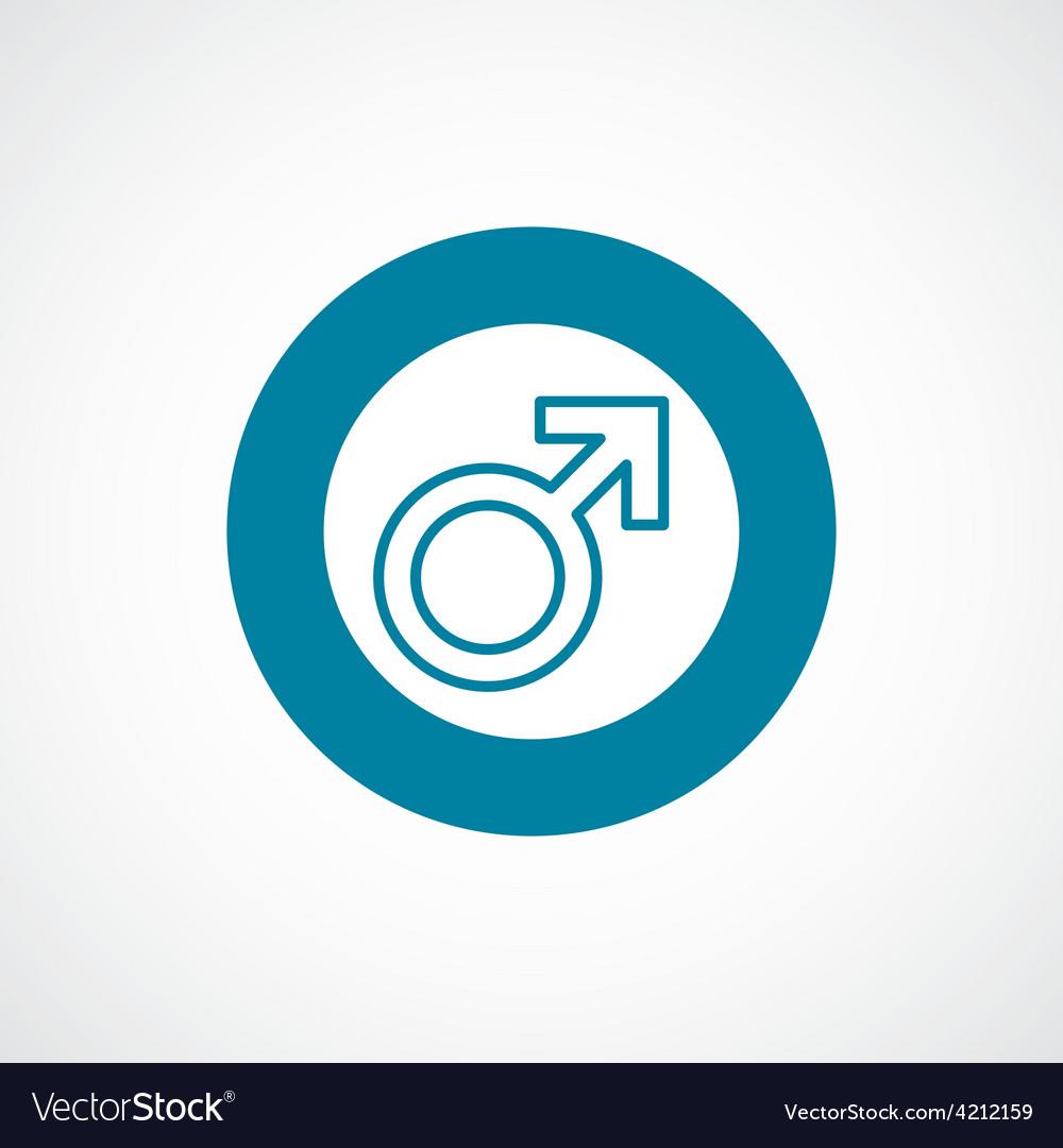 Male symbol icon bold blue circle border vector | Price: 1 Credit (USD $1)