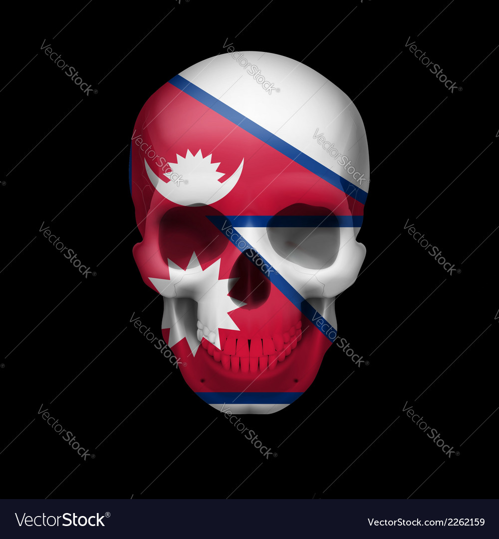 Nepalese flag skull vector | Price: 1 Credit (USD $1)