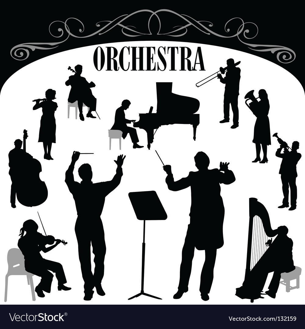 Orchestra set vector | Price: 1 Credit (USD $1)