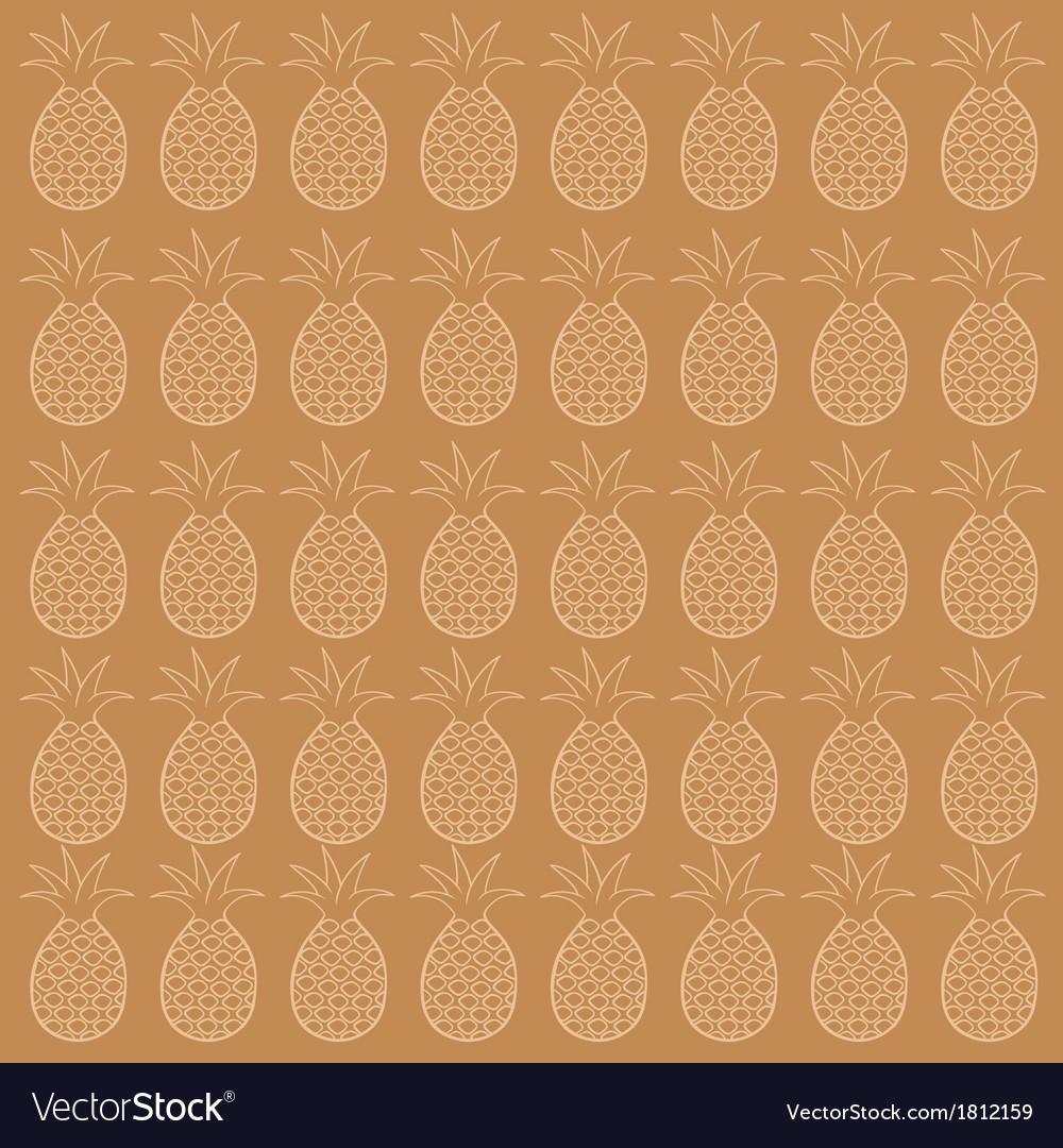 Pineapple seamless pattern vector | Price: 1 Credit (USD $1)
