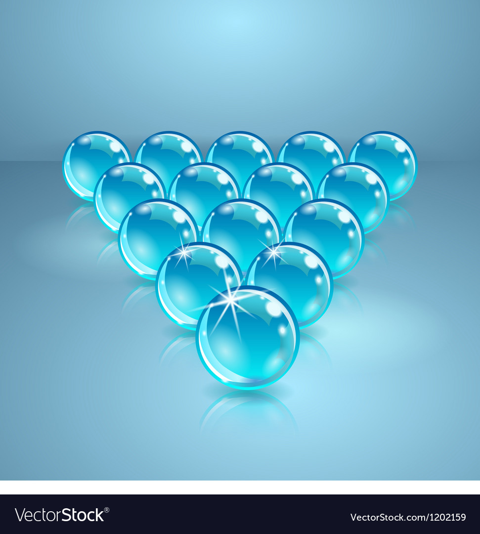 Pool or billiard balls made of glass vector | Price: 1 Credit (USD $1)