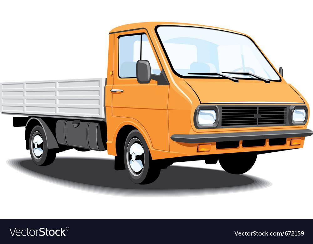 Small truck vector | Price: 3 Credit (USD $3)