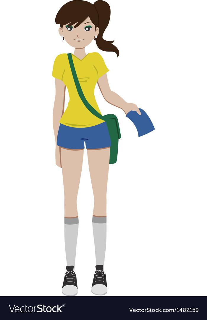 Soccer girl vector | Price: 1 Credit (USD $1)
