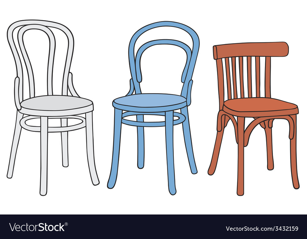 Three color classic chairs vector | Price: 1 Credit (USD $1)