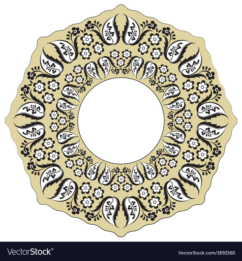 Black oriental ottoman design ten vector | Price: 1 Credit (USD $1)