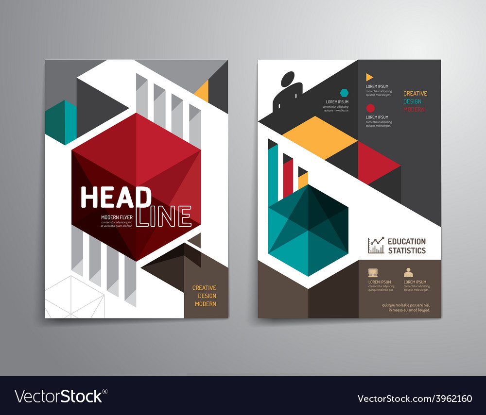 Brochure flyer magazine cover booklet poster desig vector | Price: 1 Credit (USD $1)