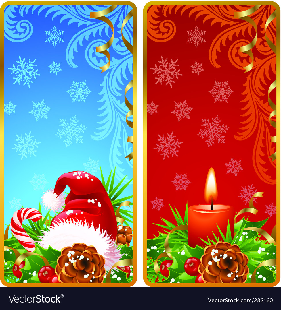 Christmas vertical banners set vector | Price: 1 Credit (USD $1)