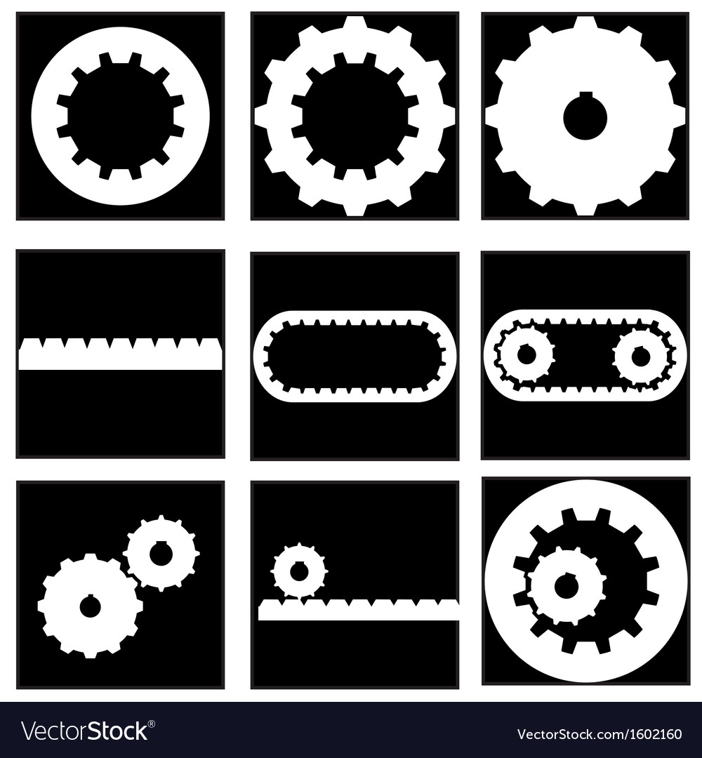 Gear collection icon vector | Price: 1 Credit (USD $1)