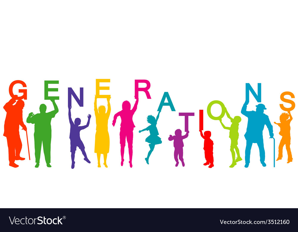 Generations concept with people from different vector | Price: 1 Credit (USD $1)