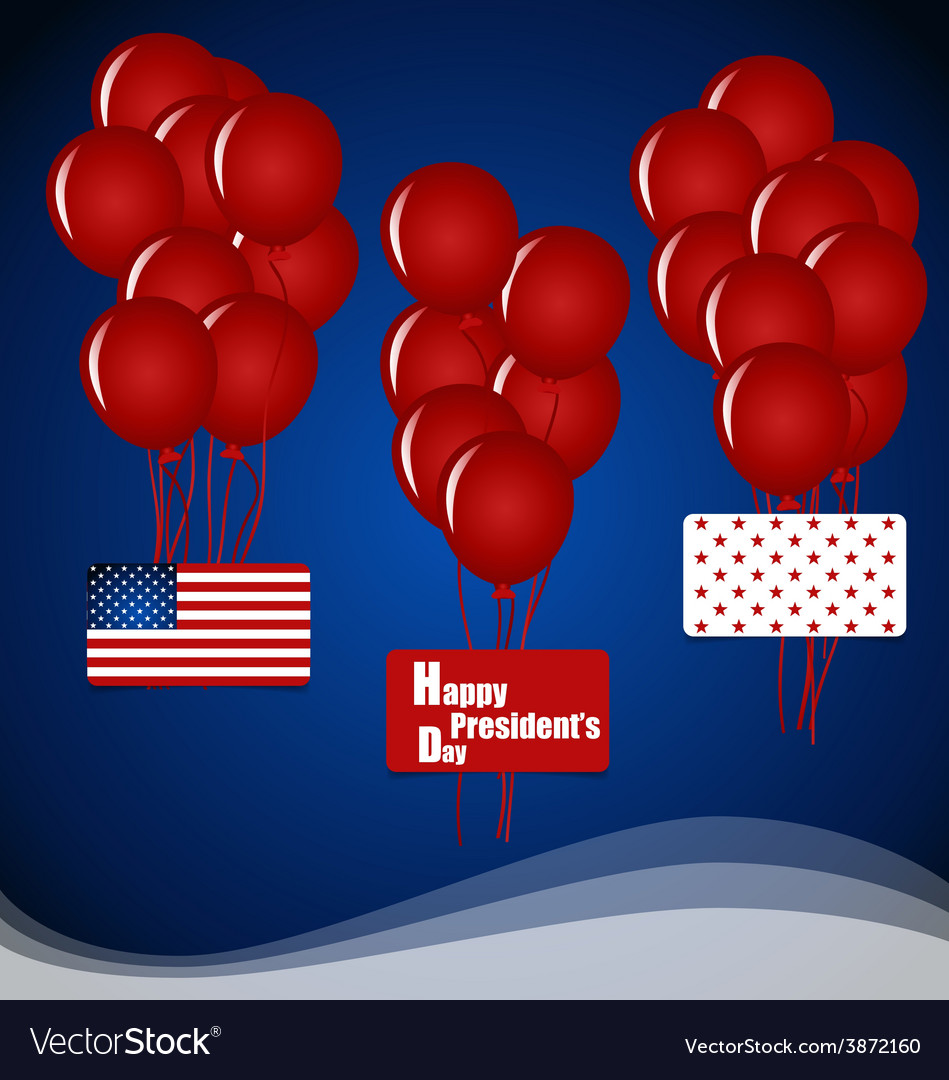 Happy presidents day presidents day banner design vector | Price: 1 Credit (USD $1)
