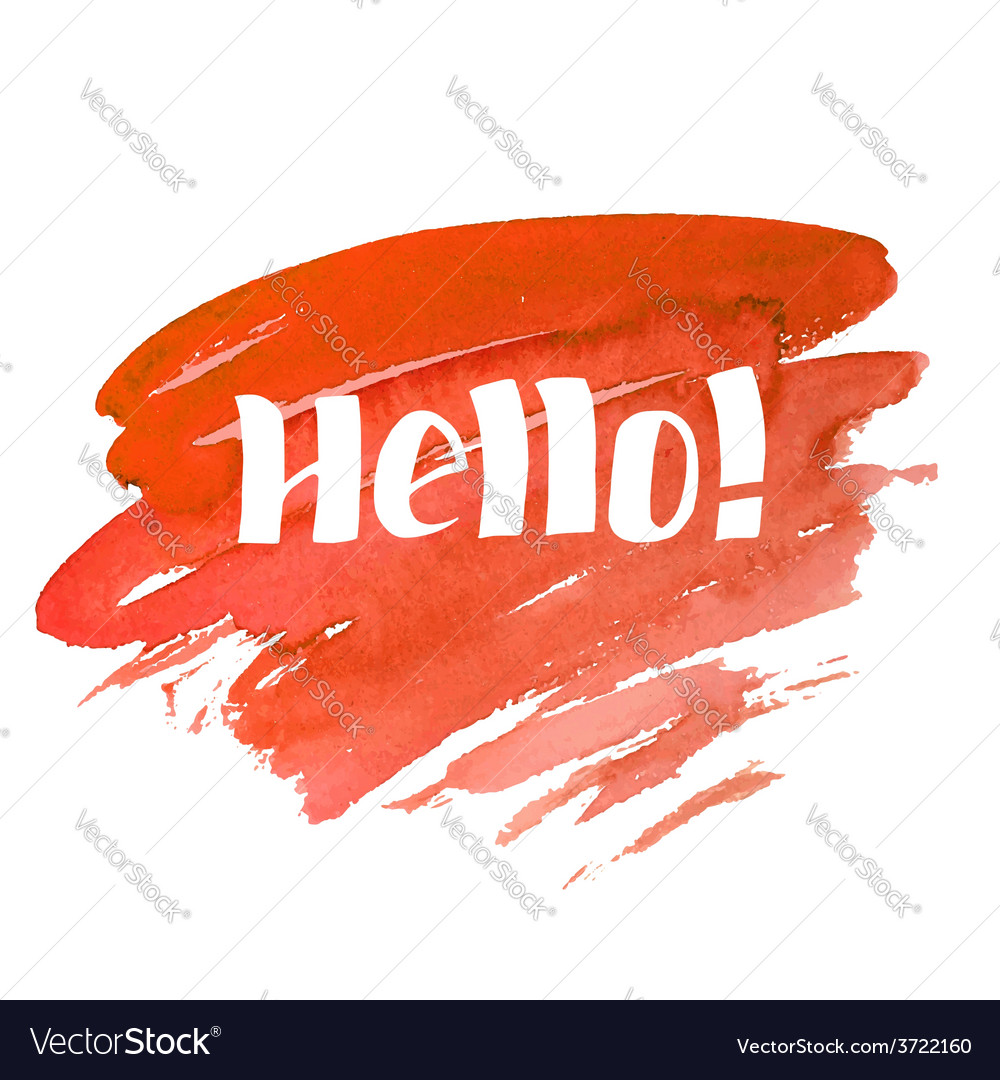Hello - hand drawn lettering vector | Price: 1 Credit (USD $1)