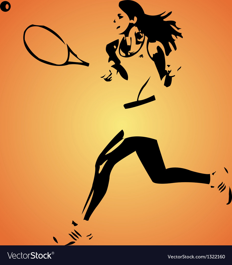 Large tennis vector | Price: 1 Credit (USD $1)