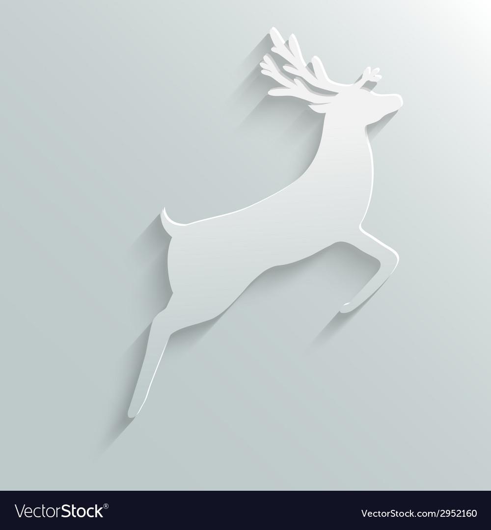 Paper reindeer vector | Price: 1 Credit (USD $1)