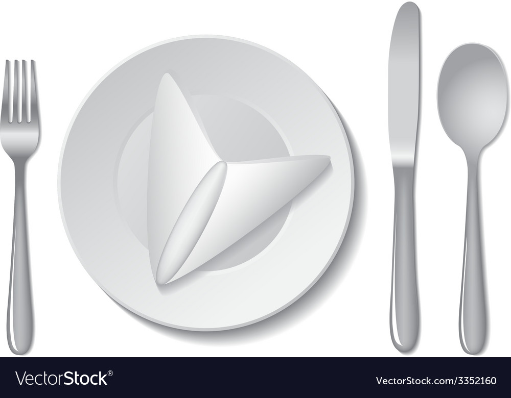 Plate and cutlery vector | Price: 1 Credit (USD $1)
