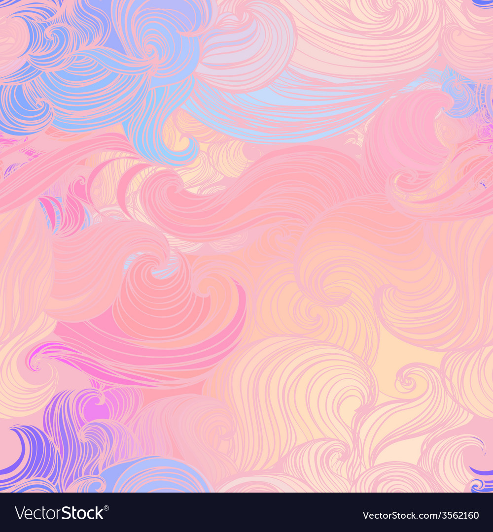 Seamless abstract pattern waves background vector | Price: 1 Credit (USD $1)