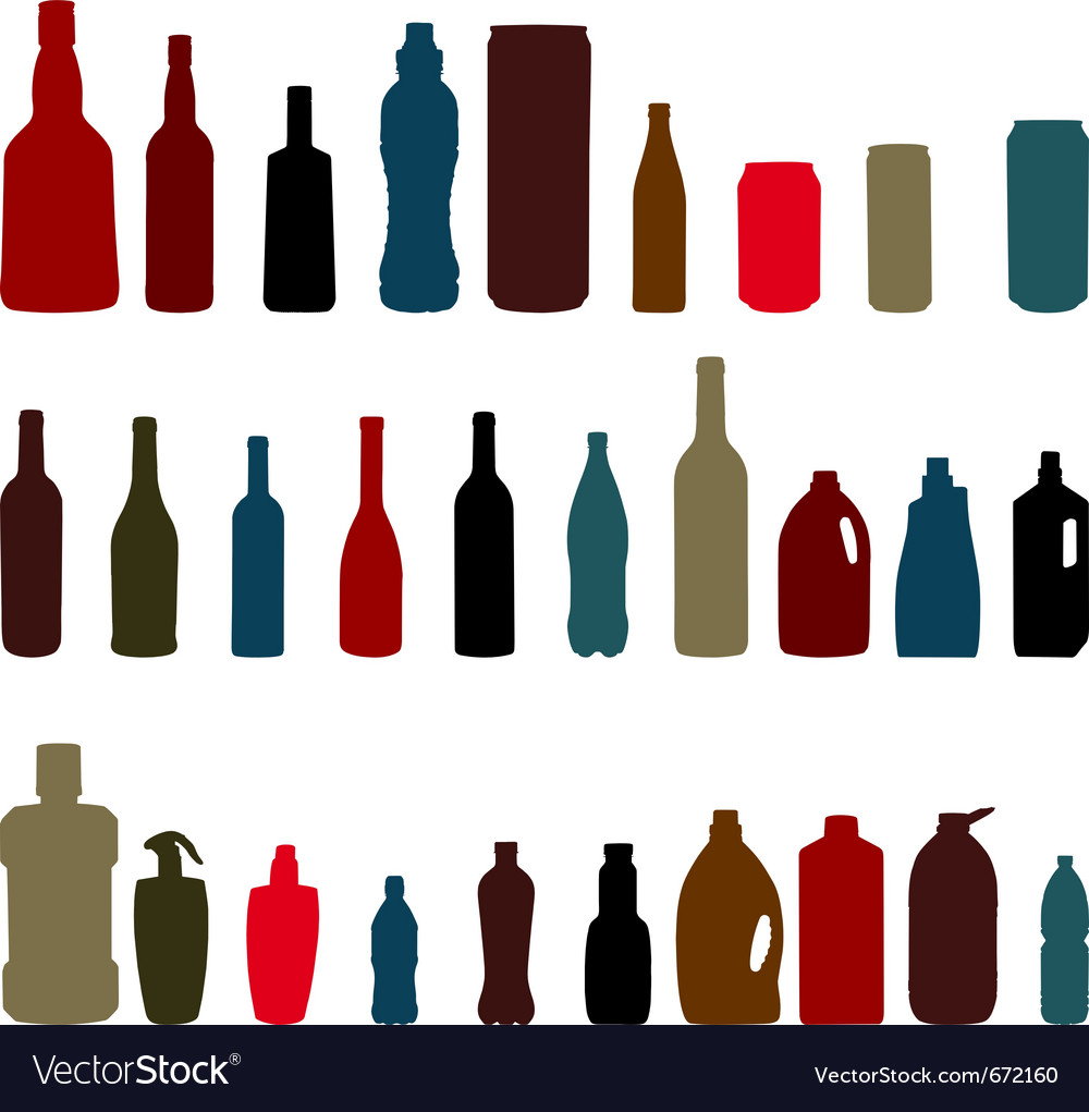 Set of bottles vector | Price: 1 Credit (USD $1)