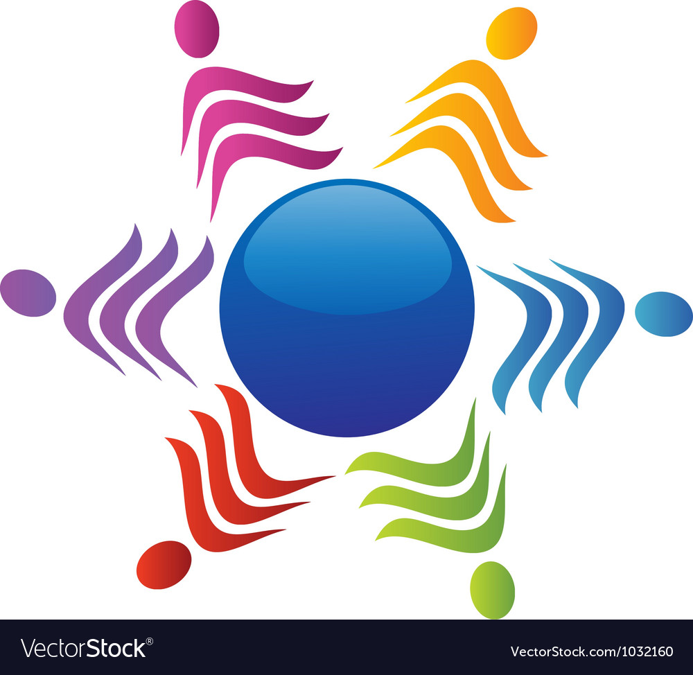 Teamwork social people logo vector | Price: 1 Credit (USD $1)