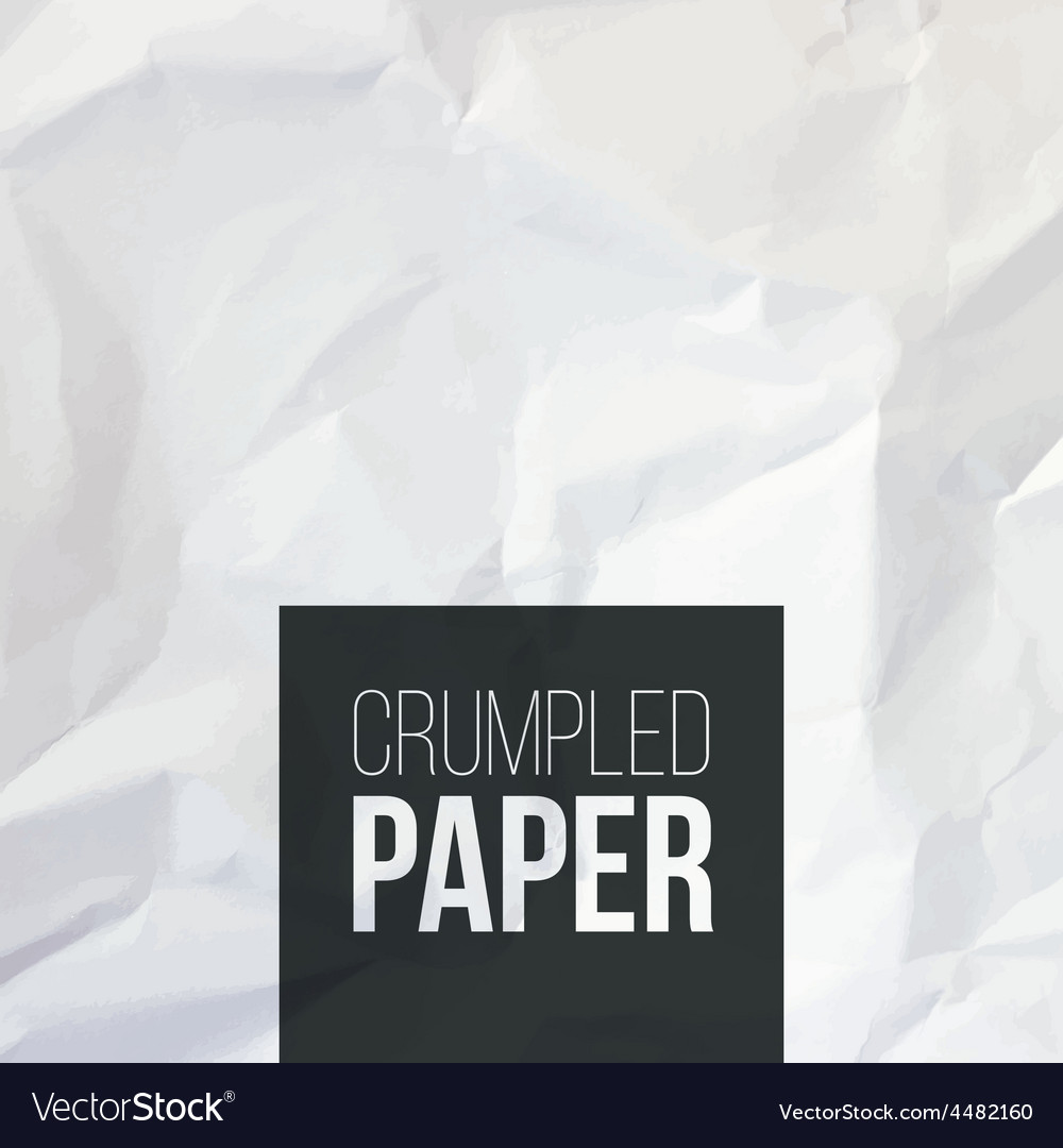 Texture of white crumpled paper background vector | Price: 1 Credit (USD $1)