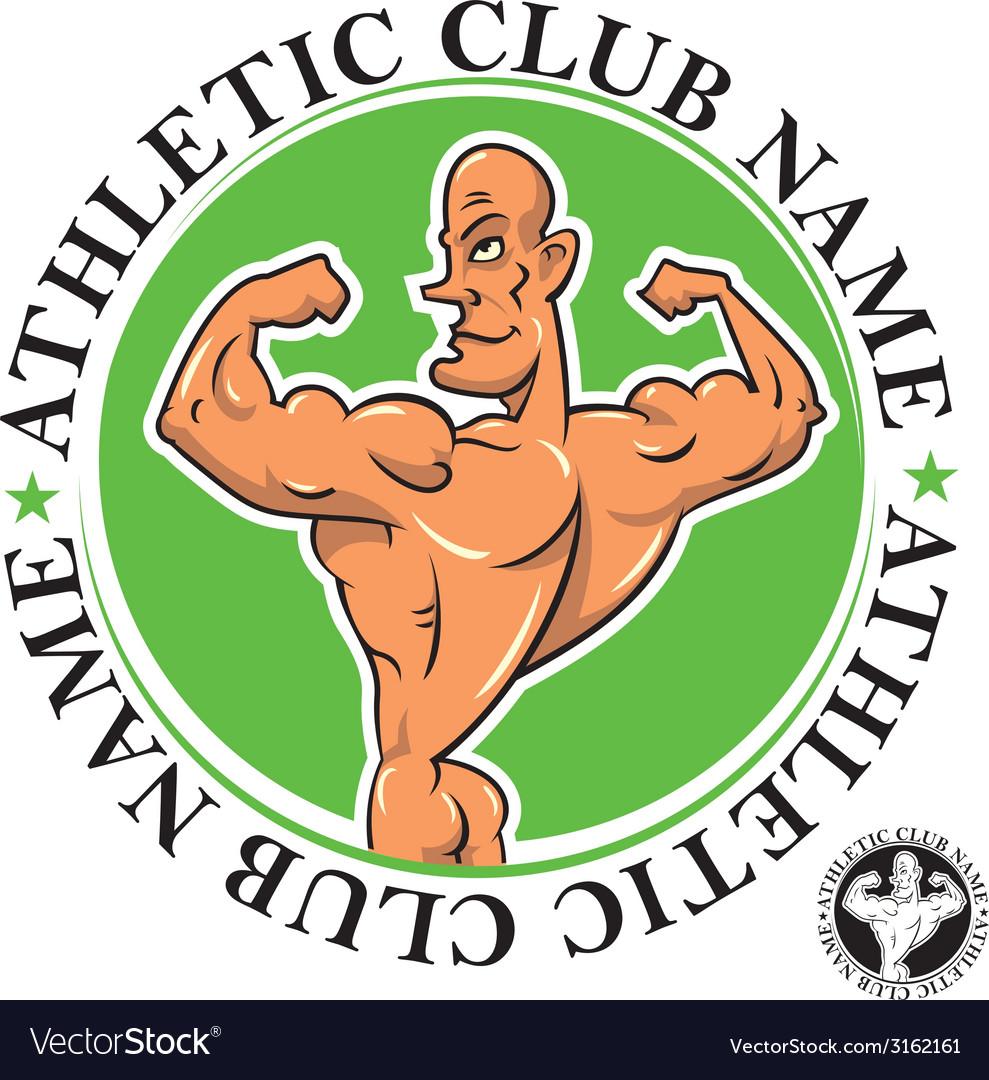 Athletic club emblem vector | Price: 1 Credit (USD $1)