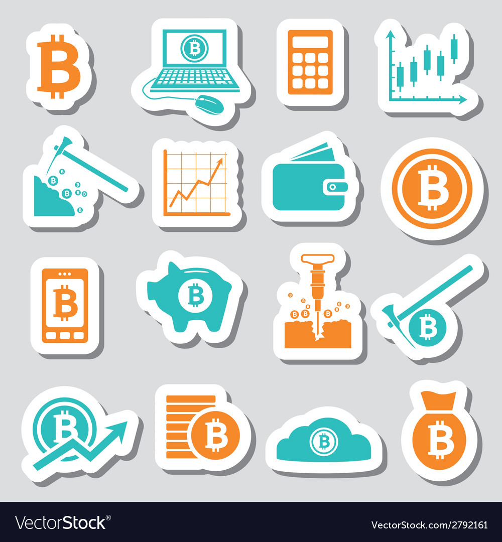 Bitcoin stickers vector | Price: 1 Credit (USD $1)