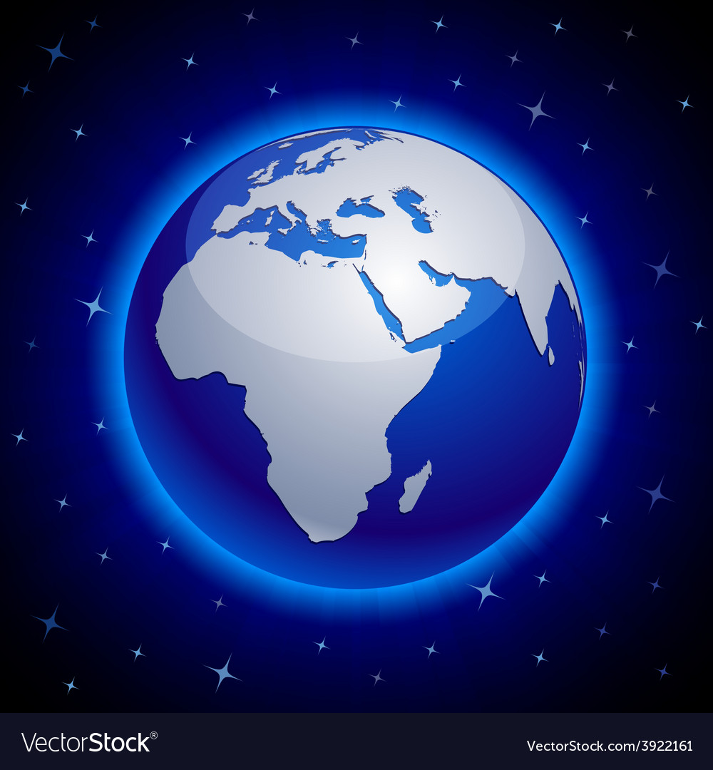 Blue earth - africa vector | Price: 1 Credit (USD $1)
