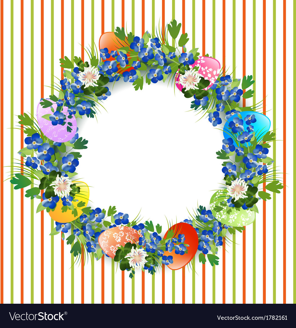 Easter decorative wreath vector | Price: 1 Credit (USD $1)