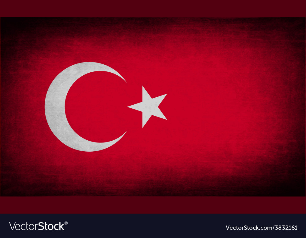 Flag of turkey with old texture vector | Price: 1 Credit (USD $1)