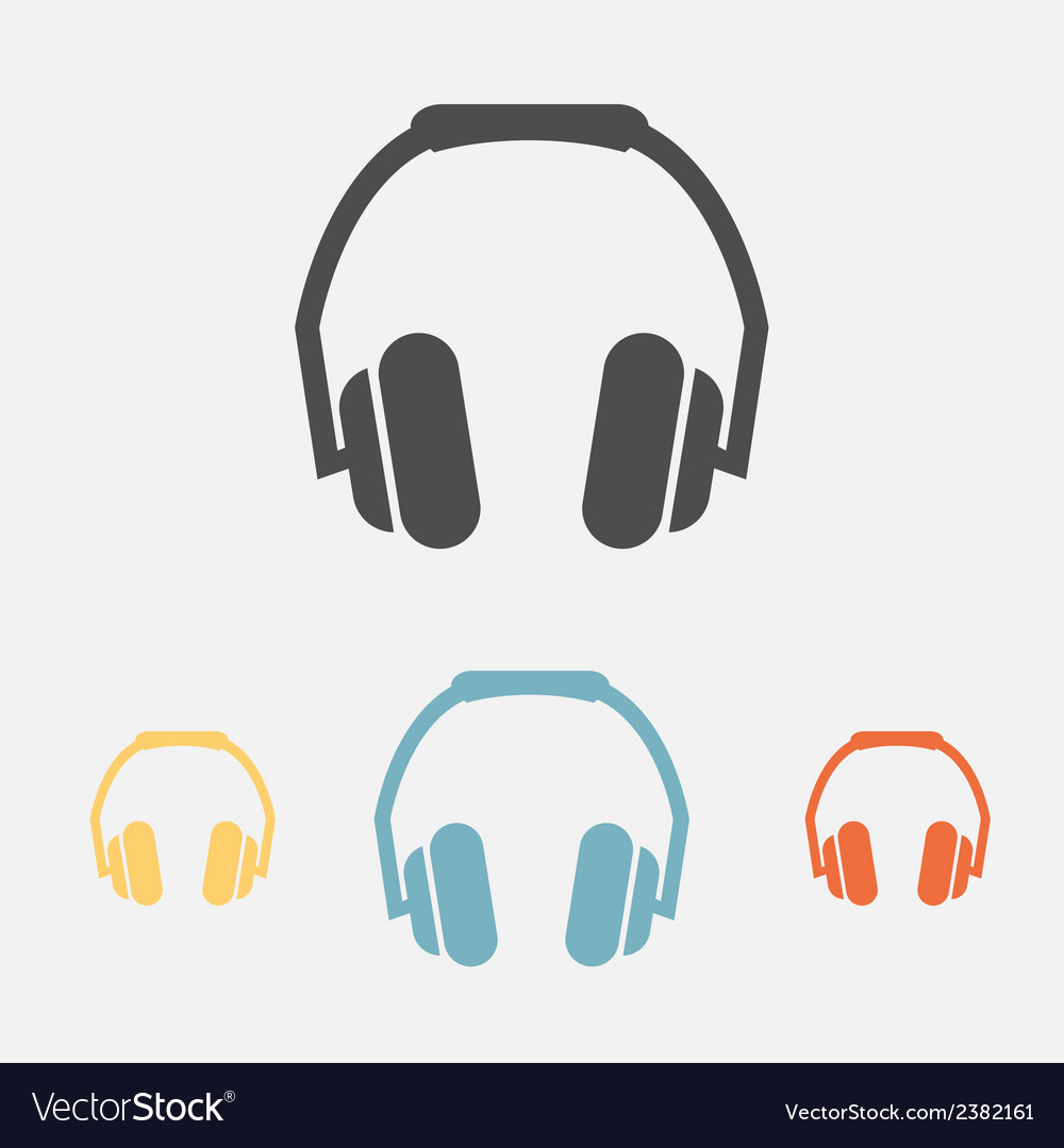 Headphone icons vector | Price: 1 Credit (USD $1)
