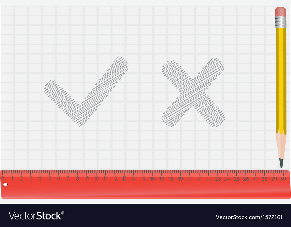 Pencil ruler and draw a symbol vector | Price: 1 Credit (USD $1)
