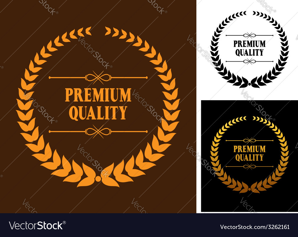 Premium quality laurel wreath icons vector | Price: 1 Credit (USD $1)
