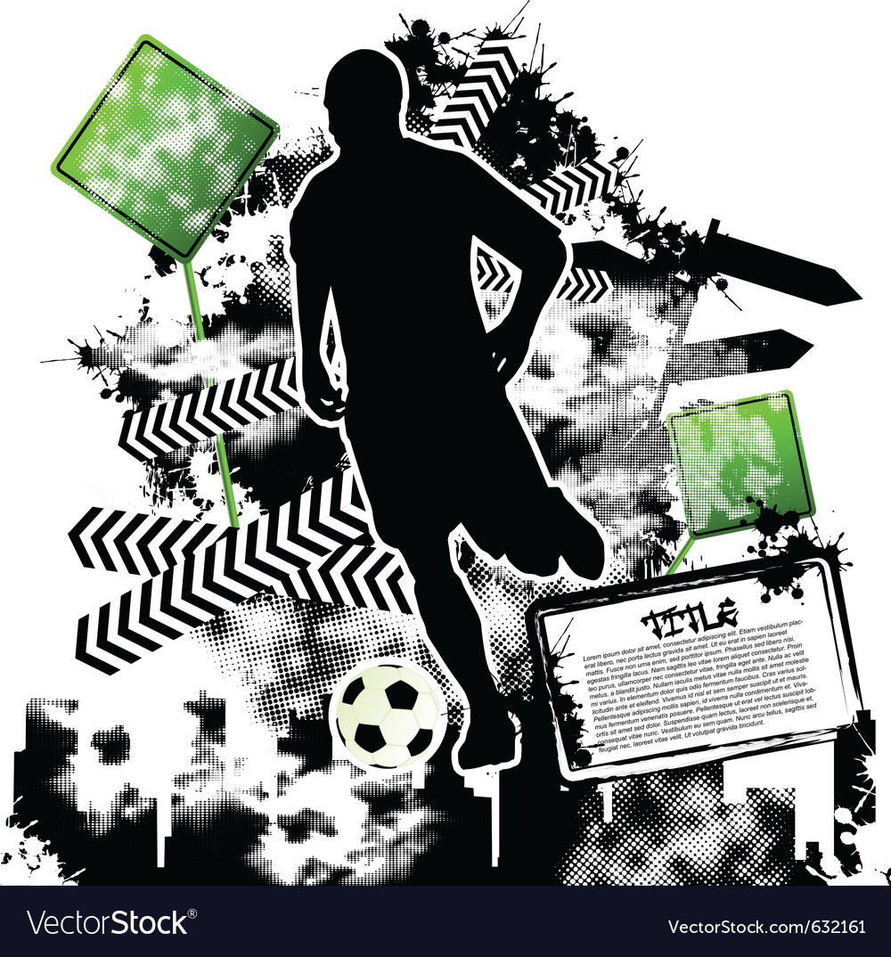 Soccer grunge vector | Price: 1 Credit (USD $1)
