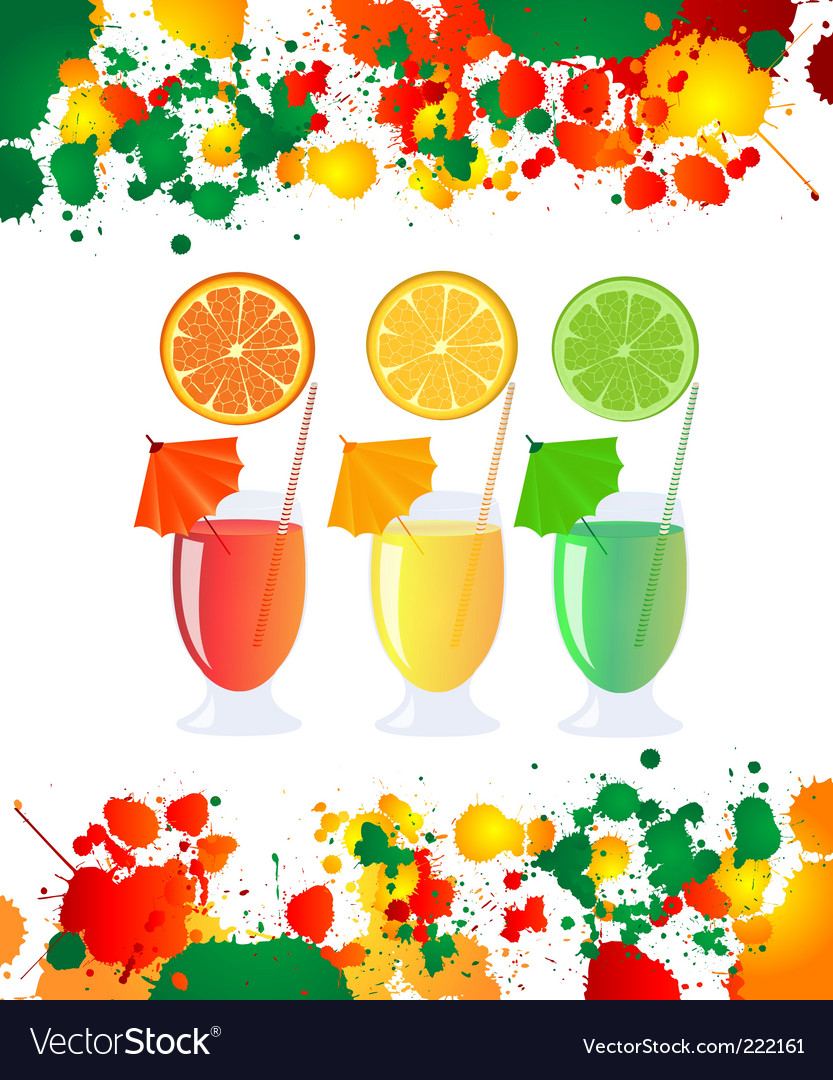 Summer refreshments vector | Price: 1 Credit (USD $1)