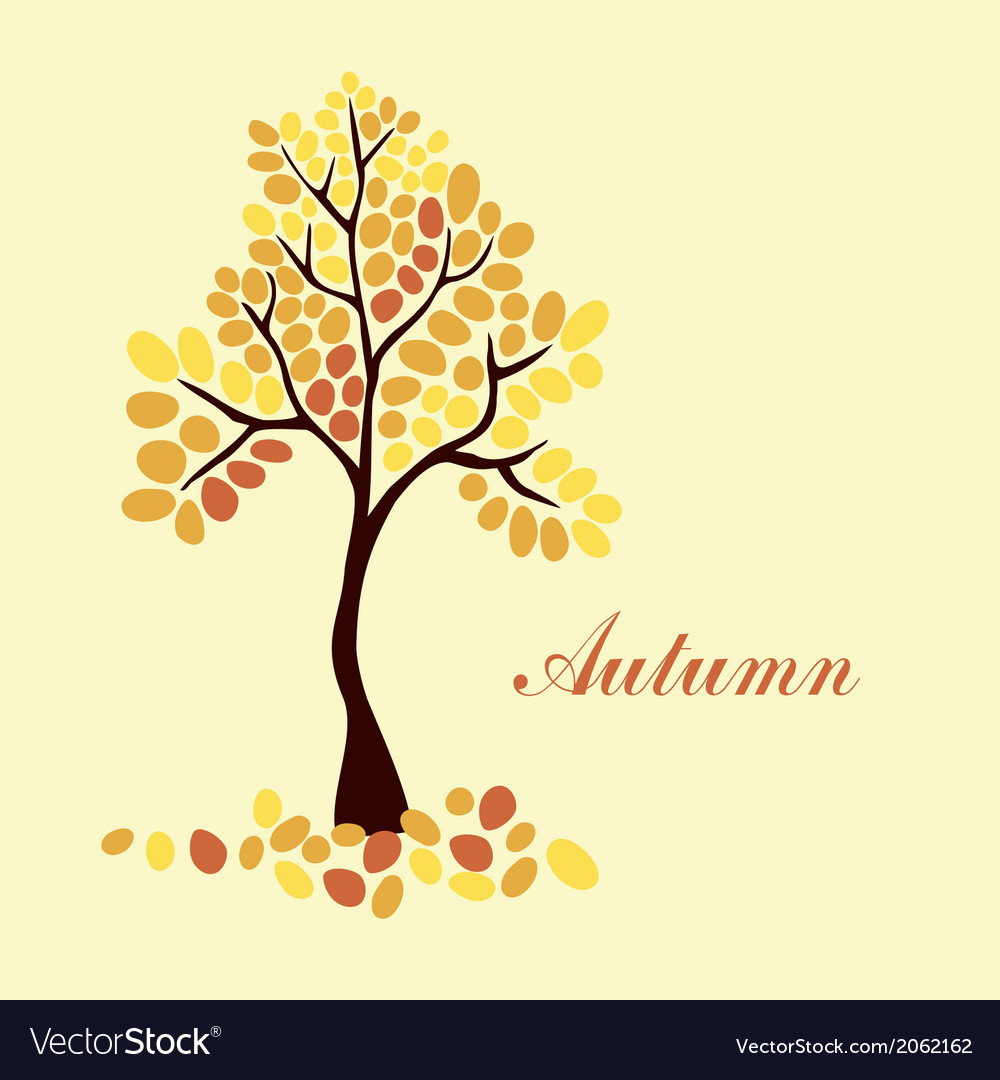 Autumn tree element for your design vector | Price: 1 Credit (USD $1)