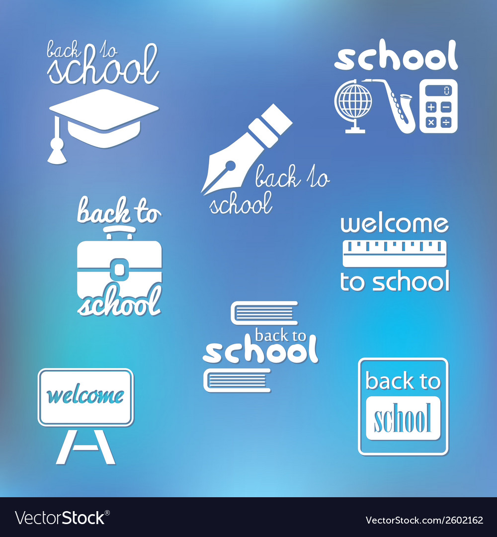 Back to school symbols vector | Price: 1 Credit (USD $1)