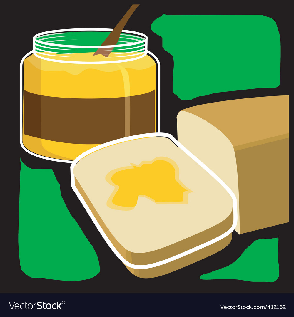 Bread and jam vector   Price: 1 Credit (USD $1)