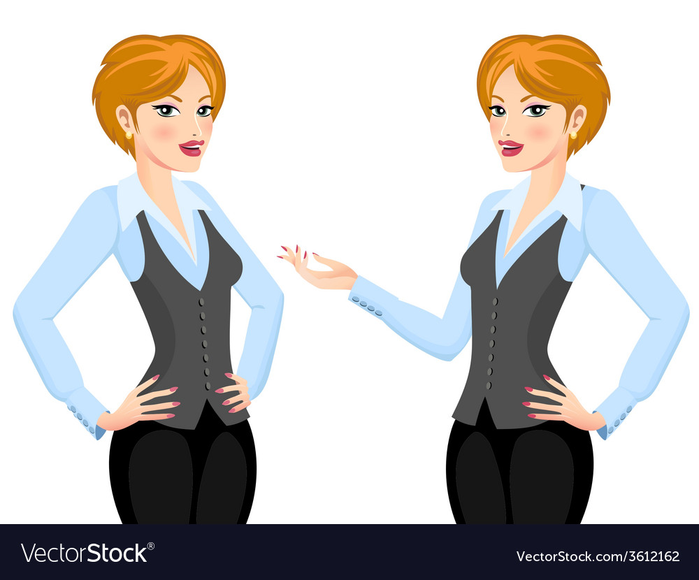 Business woman making proposal vector   Price: 1 Credit (USD $1)