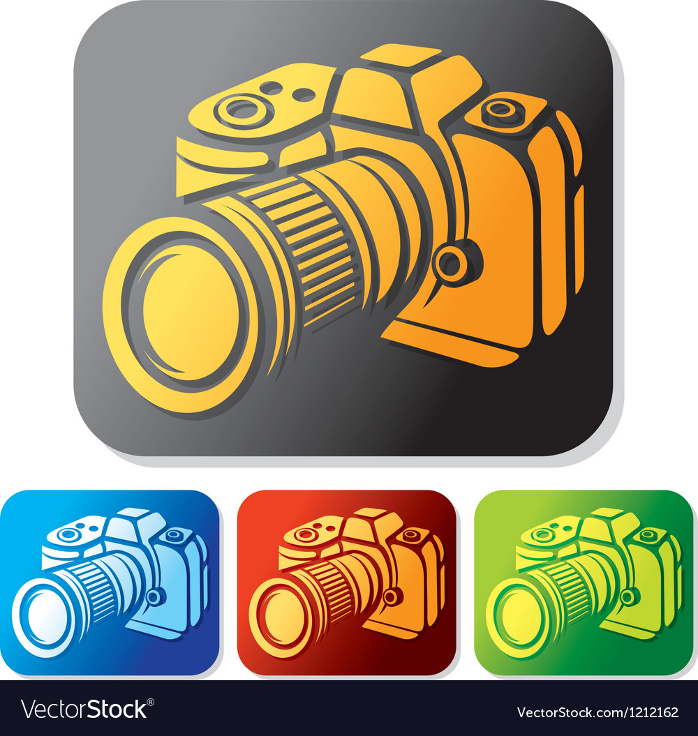 Camera icon set vector | Price: 1 Credit (USD $1)