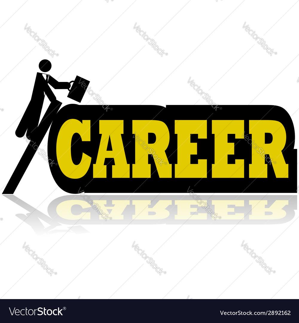 Career climb vector | Price: 1 Credit (USD $1)