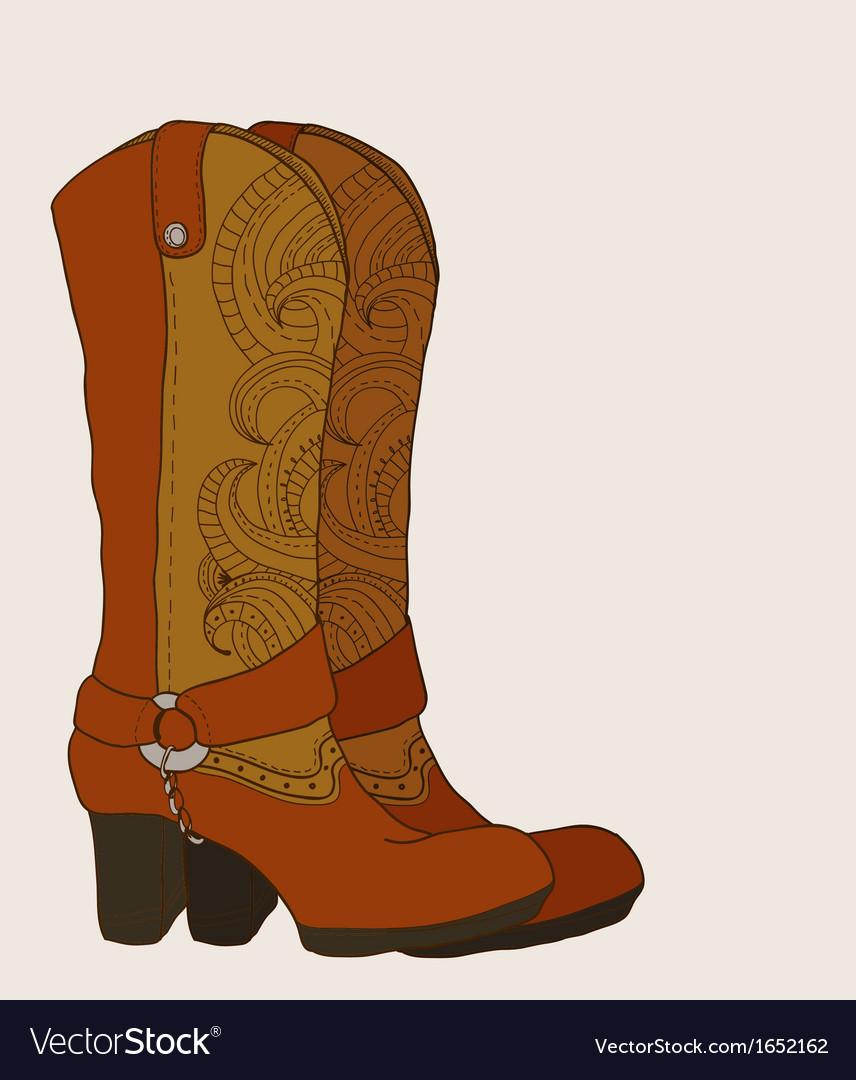 Cowboy boots vector | Price: 1 Credit (USD $1)