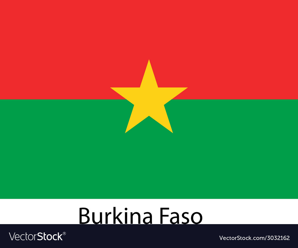 Flag of the country burkina faso vector | Price: 1 Credit (USD $1)
