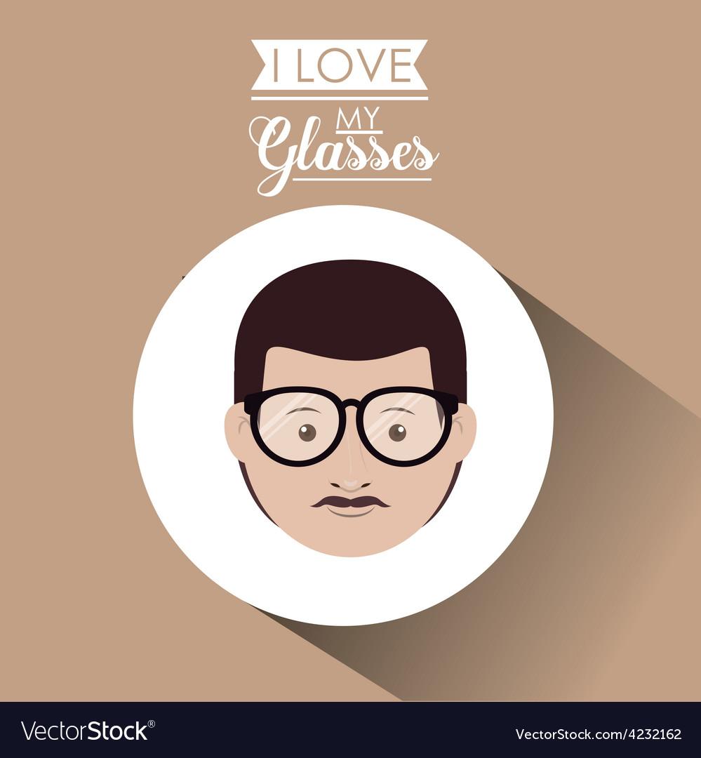 Glasses design vector | Price: 1 Credit (USD $1)